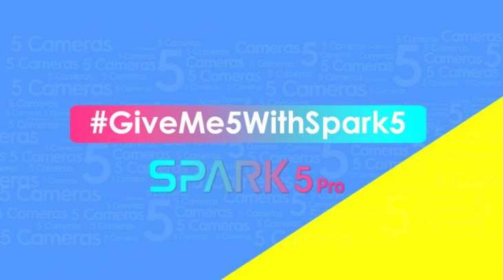 TECNO's new TikTok Challenge #GiveMe5WithSpark5celebrities are revealed!