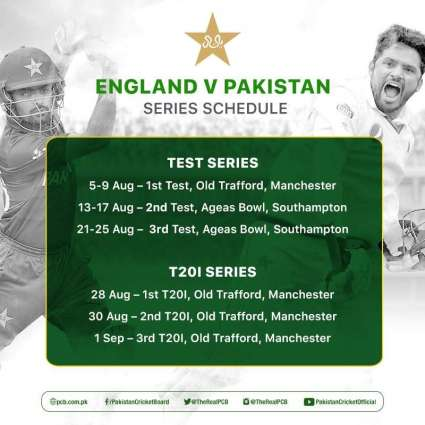 Pakistan's itinerary of England tour confirmed