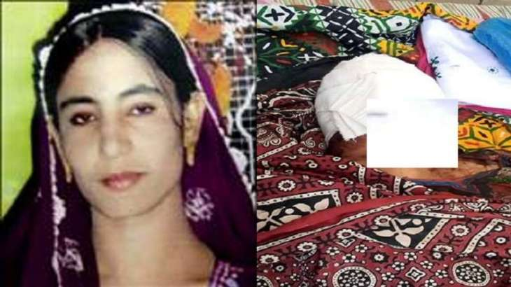 مقتل سیدة رجما علي أیدي زوجھا و شقیقہ في منطقة جامشورو باقلیم السندہ