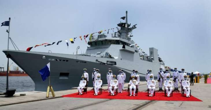 Induction Ceremony Of Pakistan Navy Ship Yarmook Held At Karachi