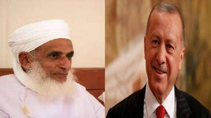المفتی العام لسلطنة عمان یھنئي الرئیس الترکي بتحویل آیا صوفیا الي مسجد