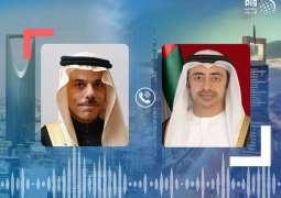 Abdullah bin Zayed, Saudi Minister of Foreign Affairs exchange Eid al-Adha greetings