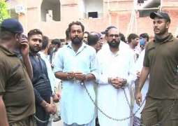Local court remands 58 PML-N workers into jail for clash outside NAB office