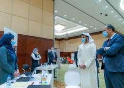 راشد بن حميد يطلع على إجراءات القبول في جامعة عجمان