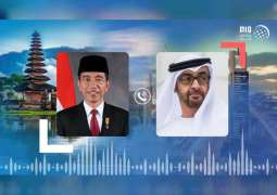 Mohamed bin Zayed, Indonesian President discuss bilateral ties, exchange New Hijri Year greetings
