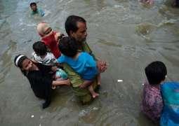 Karachi inundates again with rain water