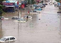 Urban flooding caused by heavy rain in Karachi kills 19 dead