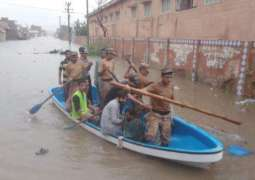 Armed Forces active in rescuing flood affectees in Karachi