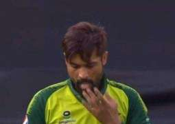 PakVsEngland: Muhammad Amir uses saliva to ball during first T20