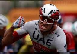"""كريستوف يقود فريق الامارات للفوز بجولة نيس في سباق """" تور دو فرانس"""" للدراجات الهوائية"""