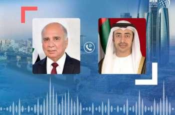 عبدالله بن زايد ووزير خارجية العراق يتبادلان هاتفيا التهاني بعيد الأضحى المبارك