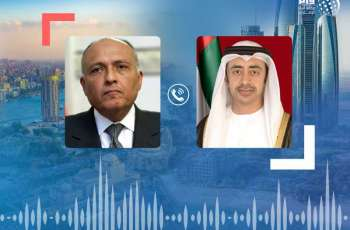 Abdullah bin Zayed congratulates Sameh Shoukry on signing agreement to demarcate maritime borders between Egypt, Greece