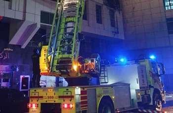Abu Dhabi Civil Police put out fire in Al Mamora
