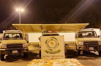 دوريات الأفواج الأمنية في جازان تضبط 224 كيلو من الحشيش بمحافظة الدائر مخبأة في مركبة بين الأعلاف