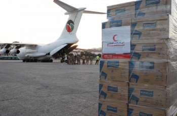 UAE aid plane carrying 40 tonnes of relief material arrives in Beirut in support of victims of massive blast