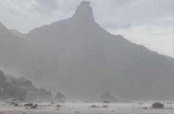 أمطار على مركز الهجمية بمحافظة أملج