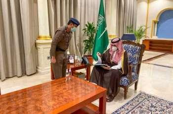 سمو أمير منطقة الجوف يستقبل مدير الدفاع المدني بالمنطقة ويتسلم التقرير السنوي