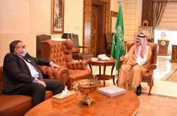 سمو الأمير مشعل بن ماجد يستقبل القنصل العام لجمهورية مصر