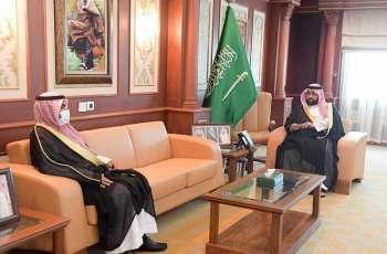 سمو نائب أمير جازان يستقبل مدير فرع هيئة حقوق الإنسان بالمنطقة المعين