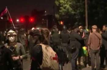 Protesters in Portland Attack Police With Commercial Fireworks, Projectiles - Police Dept.