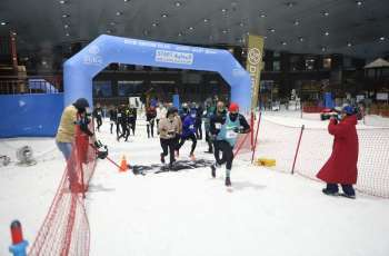 Emirati Al Nuaimi and Gemany's Hansske top the charts in the DXB Snow Run at Ski Dubai