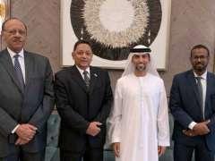 سهيل المزروعي يلتقي وزيري الطاقة و البنية التحتية السودانيين