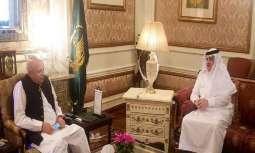 حاکم اقلیم بنجاب یبحث مع السفیر السعودي لدي اسلام العلاقات الثنائیة بین البلدین