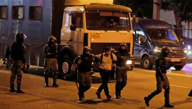 Minsk Police Started Detaining People, Officers Thoroughly Check Journalists' Documents