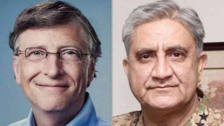 COAS, Bill Gates discuss Pakistan's Covid-19 response, resumption of Polio campaigns