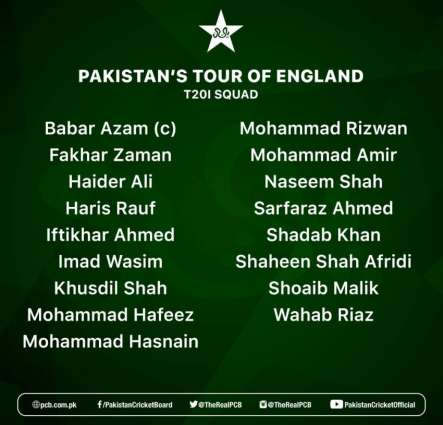Pakistan shortlist 17 players for England T20Is