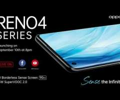 OPPO's virtual launch event of OPPO Reno4 series, OPPO Enco W51, and OPPO smartwatch set for 10th September 2020 with Sanam Saeed, Ali Rehman, and Kashmir the band