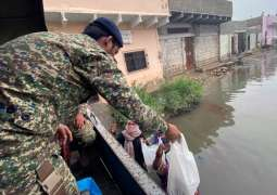 Pakistan Navy's Relief Operation Continues In Rain Affected Areas Of Karachi And Sindh