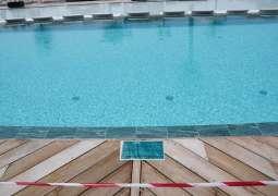 Swimming pool shut down by Dubai Sports Council and Dubai Economy for violating COVID-19 protocols