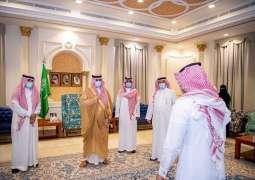 سمو أمير الجوف يستقبل أمين مجلس الشباب ورؤساء اللجان والوحدات المعتمدين حديثاً