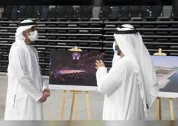 Khaled bin Mohamed bin Zayed tours Yas Bay, part of Miral's AED12 billion portfolio of developments under construction