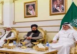 سفیر السعودیة لدي باکستان یقیم مأدبة عشاء لرئیس مجلس علماء و مشایخ باکستان في منزلہ باسلام آباد
