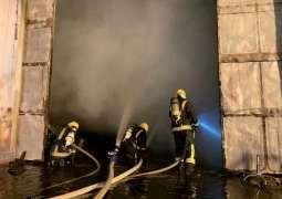 مدني تبوك يخمد حريقاً اندلع بمستودع للأخشاب بطريق المدينة
