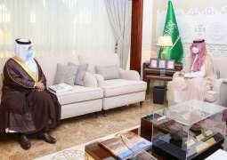سمو نائب أمير المنطقة الشرقية يلتقي مدير فرع هيئة المواصفات والمقاييس بالمنطقة
