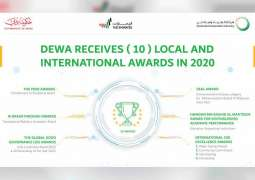 DEWA receives 10 local and international awards in 2020