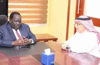 سفير خادم الحرمين الشريفين لدى السودان يلتقي بالمستشار الأمني لرئيس جمهورية جنوب السودان