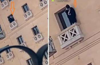 فیدیو : فتاة سعودیة تحاول الانتحار من شرفة فندق فی منطقة الدمام
