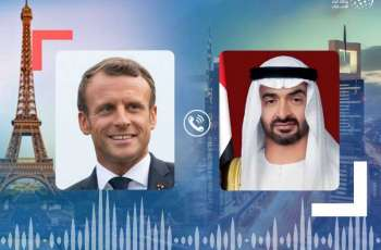 Mohamed bin Zayed, French President discuss bilateral ties, regional peace efforts