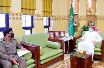 وكيل إمارة منطقة الرياض يستقبل مدير مرور المنطقة