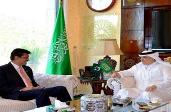 قائد کتلة الحکومة فی مجلس الشیوخ الدکتور وسیم شھزاد یلتقی السفیر السعودي لدی اسلام آباد