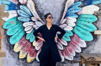 "Mehwish Hayat stuns fans by sharing her picture with ""wings"""