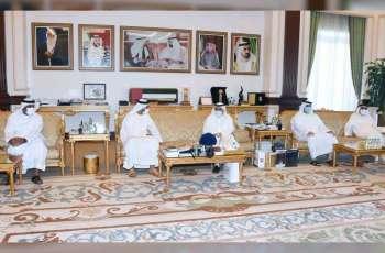 Hamdan bin Rashid receives Rashid bin Humaid Al Nuaimi