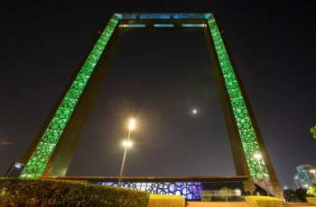 Dubai landmarks light up in colours of Saudi flag in celebration of KSA National Day
