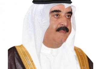 حاكم أم القيوين يهنئ الشيخ نواف الأحمد الجابر الصباح بمناسبة تنصيبه أميرا لدولة الكويت