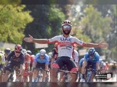 جافيريا دراج فريق الامارات يفوز بجولة توسكانا الايطالية للدراجات الهوائية