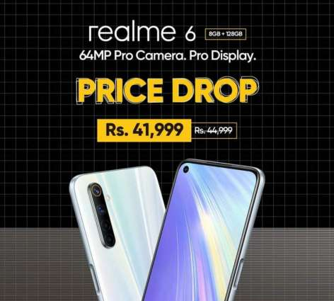 Realme 6 with 90Hz display and Helio G90T processor is now offered at Rs. 41,999 only for 8GB+128GB variant